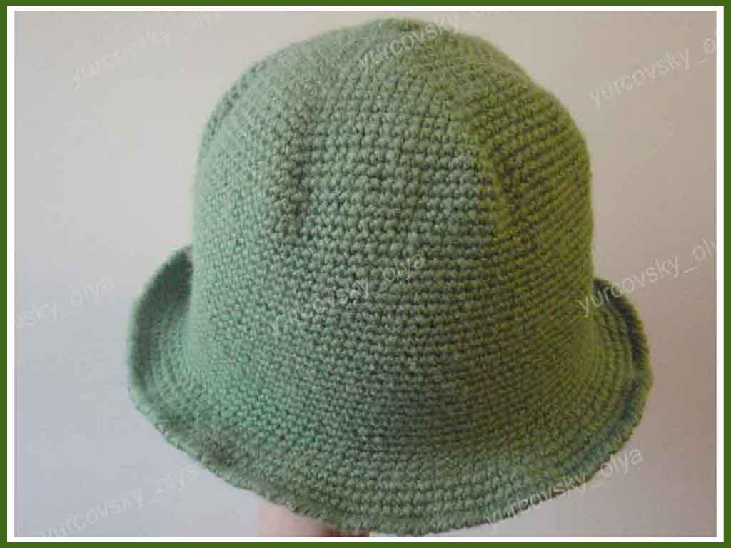 Простая шляпа крючком
